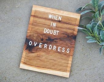 Wooden Letter Board 9x12 - Ingrown Bark Hickory - Letterboard, Message Board, Felt Board, Modern Farmhouse, Modern Cabin, Natural