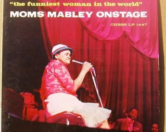 Moms Mabley onstage chess LP1447 very good condition, some minor wear on bottom of jacket (see Photo) FREE SHIPPING