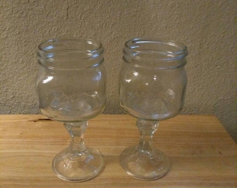 Upcycled Wine Glasses.