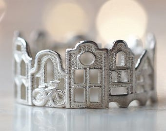 Amsterdam Ring - Gift for Architect - Statement Ring - Mothers Day Gift - Gift Ideas - Mother Gift - Shekhtwoman