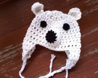 Polar bear newborn hat