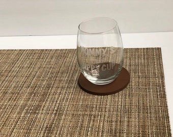 Etched custom made to order wine glass