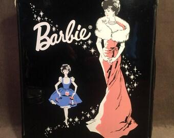 Vintage Barbie Ponytail Doll Case Black Mattel 1962
