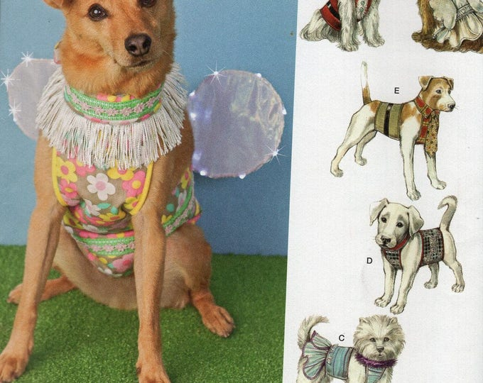 Free Us Ship Sewing Pattern Simplicity 1482 Designer Carla Reiss Dog Costume Fairy Wings Clothes Vest  Hat Shirt Coat Uncut Brand New