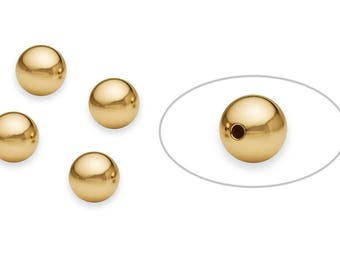 1 Pcs 9 mm 14K Gold Filled Round Bead Seamless (2011000009)