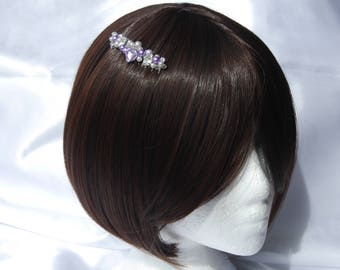 Purple Bridesmaid hair comb, Purple Pearl wedding comb, wedding hair accessory, Pearl Bridal hair Comb, Purple bridesmaid hair accessory