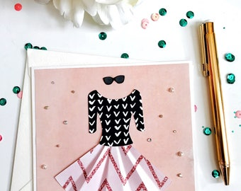 """Handmade Card with 3D Dress - Embossed & Embellished - Reads """"On Your Special Day"""" 
