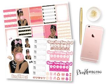 I Believe In Pink Weekly Planner Sticker Kit | Erin Condren Planner Stickers | Any Planner Stickers
