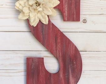 Monogram Door Hanger - Summer Door Hanger - Door Decor - Rustic Room Decor - Door Decoration  - Monogram Door Decor - Room Decor