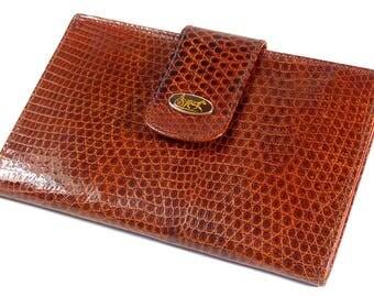 Brown lizard wallet