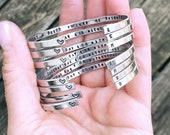 Bride Tribe - Bridesmaids Gift - Bridesmaids Jewelry - Gift for Bride - To Bride from Mom - Hand Stamped Gift