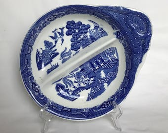 A blue and white Adderley Ware vintage dish