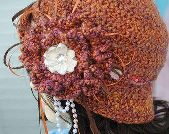 Handmade Bucket hat, Cloche, Flapper 22 1/2 inches