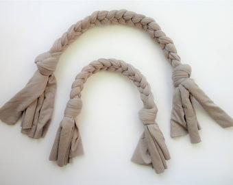 Dog tug toy - Beige, Cotton, vegan, natural,  stretch jersey, Minimal design, animalove