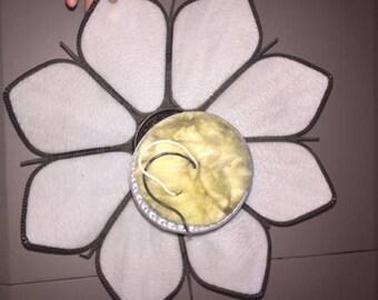 Vintage L&L WMC 1967 White Flower Petal Light Ceiling Lotus Glass