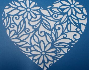 Daisy Heart Stencil