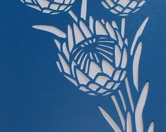 Protea 02 Stencil