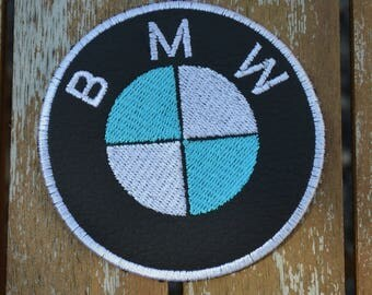 embroidered with BMW