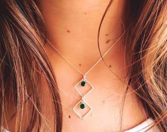 Rhombus necklace • Minimal • Layered necklace necklace • Geometry necklace