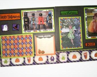 Halloween Scrapbook Layouts - Premade Halloween Scrapbook Pages - Halloween Layout - Halloween Pages - Halloween Scrapbook Pages - Halloween