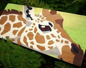 Original Painting on Wood: Giraffe Spots
