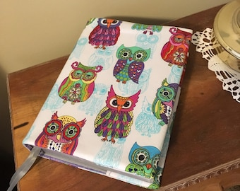 Owl Bible cover for large print - Revised edition