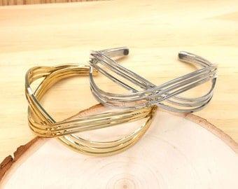 Infinity Cuff Bracelet, Minimalist Bracelet, Simple Cuff Bracelet, Everyday Cuff Bracelet, Gold Cuff Bracelet, Silver Cuff Bracelet BBR385-2