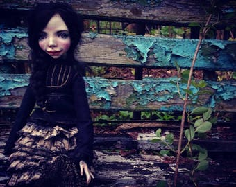 RESERVED OOAK Doll The Little Black Bird