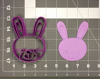 Bunny Face 101 Cookie Cutter