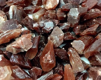 Red Calcite Raw Chips