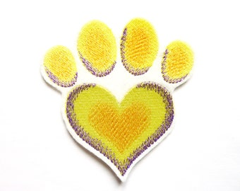 dog paw badge patch embroidered patch