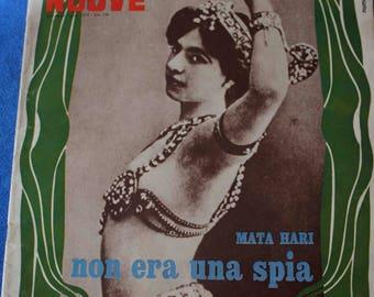 Vintage Italian Magazine, C. 4/16/67, Mata Hari, Spy