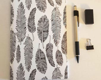 Feather Notebook, journal, diary, plain notebook, sketchbook, stationery