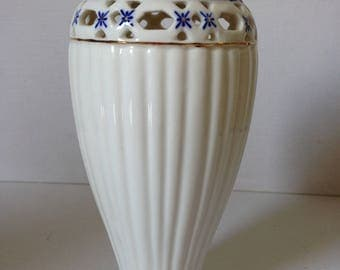 Blue and White Vase, White Vase, Small Vase, Ceramic Vase, Hand Painted Vase, Flower Vase, Urn Vase, New Home Gift, Blue and White Decor