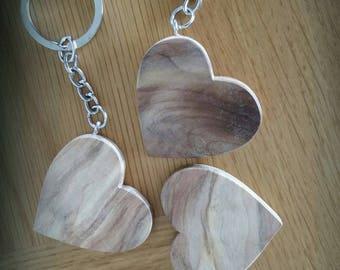 "Driftwood ""Heart"" keychain"