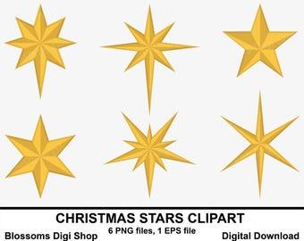 christmas stars clipart gold star clipart star elements star vector star graphic - Christmas Tree Star