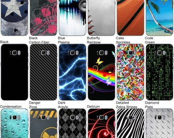 Choose Any 2 Designs - Vinyl Skins / Decals / Stickers for Samsung Galaxy S8 Android Smartphone - Back Only