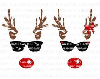 Reindeer face svg, Reindeer svg, Christmas svg, svg christmas files, Christmas shirt svg, reindeer svg files, Christmas clipart, reindeer