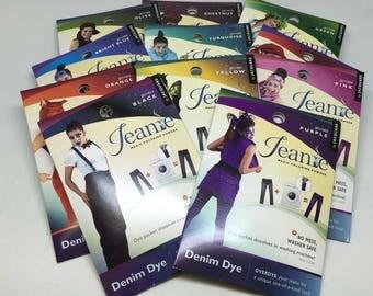 Jacquard Jeanie Denim Fabric Jeans Washing Machine Over Dye
