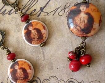 Parure Bijoux Vintage, Ensemble Bijoux Femme, Style Rétro, Cadeau Romantique, Art Déco, Bijoux Victorien, Bijoux Porcelaine, Fête des Mères