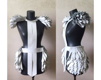 Leather costume dress harness wings