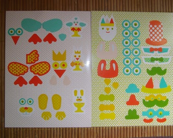 Easter: set of 2 Easter themed stickers