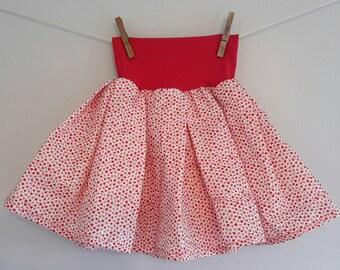 The skirt that turns! Mini Cherry/Red T.4 - 5 years