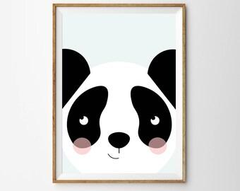 Panda Children's Print, panda print, panda poster, nursery print, nursery, nursery decor, childrens print, kids print, children's print,