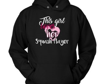 Squash Player hoodie. Cute and funny gift idea