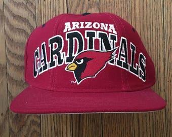 Vintage 90s Starter Arizona Cardinals NFL Snapback Hat Baseball Cap