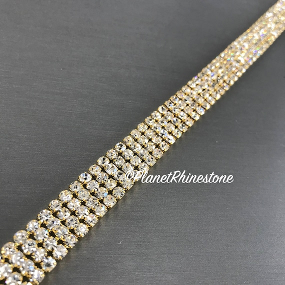 Gold Simple Crystal Trim  #T-D
