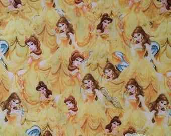 """Tissu Coton imprimé thème """" La Belle et la Bête """""""