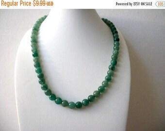 ON SALE Vintage 1960s Aventurine Semi Precious Necklace 82117