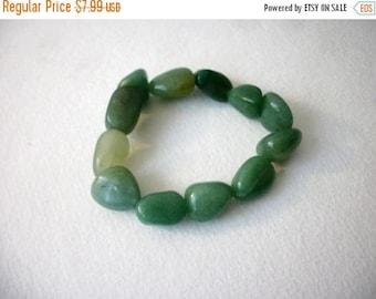 ON SALE Retro Aventurine Semi Precious Stones Bracelet 31417